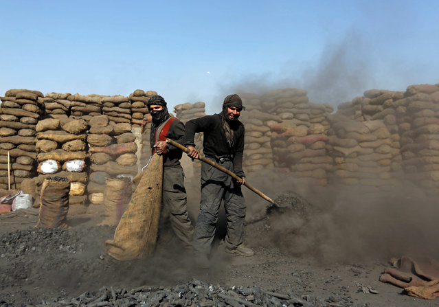 Labourers work at a coal dump site in Kabul, Afghanistan November 15, 2016. (Photo by Mohammad Ismail/Reuters)