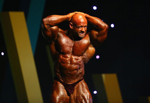 Branch Warren of the USA poses during the Arnold Classic Australia at The Melbourne Convention and Exhibition Centre on March 14, 2015 in Melbourne, Australia. (Photo by Robert Cianflone/Getty Images)