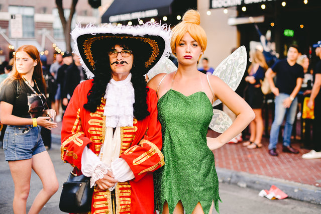 Cosplayers dressed as Hook and Tinkerbell attend the 2019 Comic-Con International on July 18, 2019 in San Diego, California. (Photo by Matt Winkelmeyer/Getty Images)