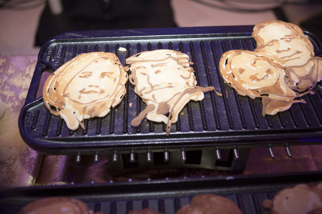 Party Pancakes are replicas of one's face in a flapjack form at the MSNBC after party in Washington, U.S., April 30, 2016. (Photo by April Greer/The Washington Post)
