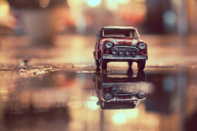 """Lover of the Light"", Red Union Jack Mini Cooper, Bern, Switzerland, October 2012. (Photo by Kim Leuenberger)"