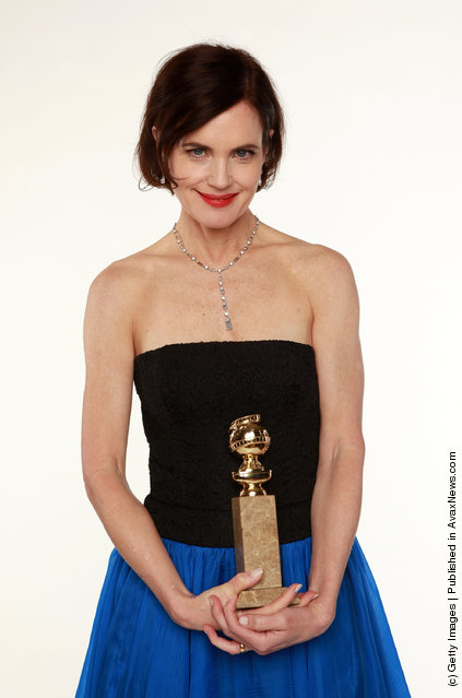 Actress Elizabeth McGovern, winner of the Best Mini-Series or Motion Picture Made for Television
