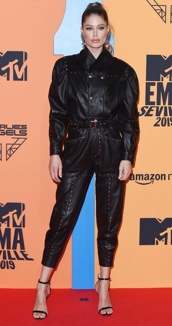 Supermodel Doutzen Kroes attends the MTV EMAs 2019 at FIBES Conference and Exhibition Centre on November 03, 2019 in Seville, Spain. (Photo by Daniele Venturelli/Daniele Venturelli/WireImage )