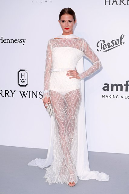 Former Made In Chelsea star Millie Mackintosh arrives at the amfAR Gala Cannes 2017 at Hotel du Cap-Eden-Roc on May 25, 2017 in Cap d'Antibes, France. (Photo by David Fisher/Rex Features/Shutterstock)