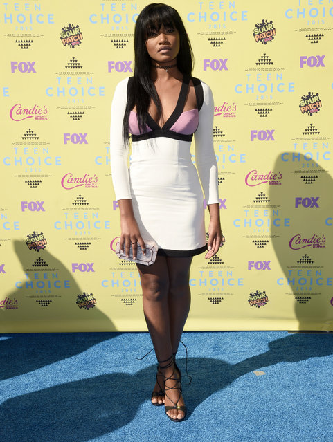 Keke Palmer arrives at the Teen Choice Awards at the Galen Center on Sunday, August 16, 2015, in Los Angeles. (Photo by Chris Pizzello/Invision/AP Photo)