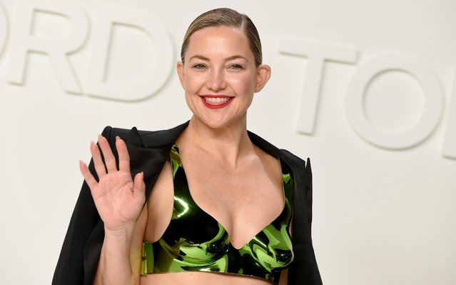 Kate Hudson attends the Tom Ford show at Milk Studios during NYFW Fall/Winter 2020 on Friday, February 7, 2020, in Los Angeles. (Photo by Jordan Strauss/Invision/AP Photo)