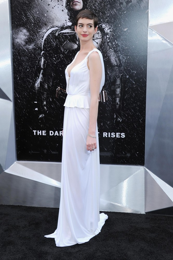 """Anne Hathaway Attends the """"The Dark Knight Rises"""""""