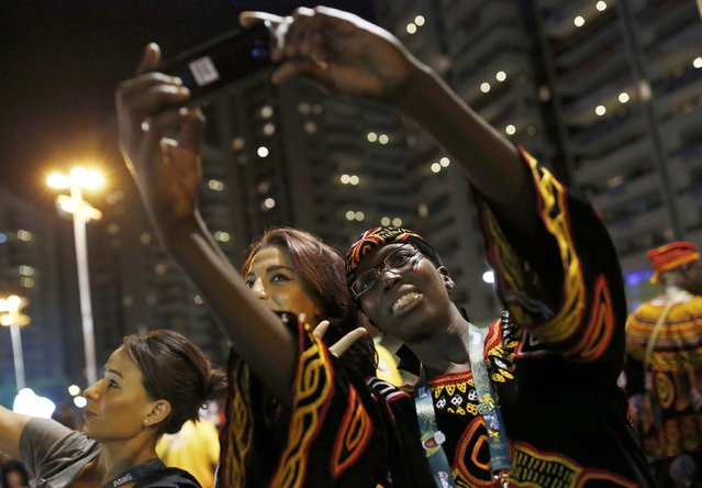 Cameroon's Olympic team attend their welcoming ceremony inside the Olympic Village in Rio de Janeiro, Brazil on August 1, 2016. (Photo by Edgard Garrido/Reuters)