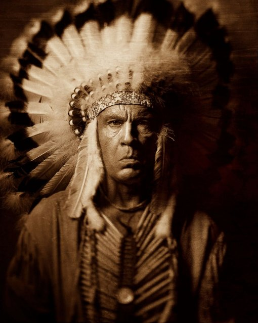 John Malkovich is seen as Three Horses in a re-creation of a portrait taken by Edward S. Curtis in 1905. The Malkovich Sessions will make its debut at Catherine Edelman Gallery in Chicago November 7, 2014. (Photo by Sandro Miller/Catherine Edelman Gallery)