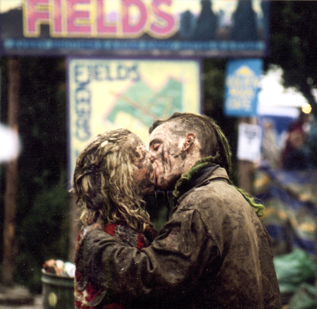 """Muddy Kiss Glastonbury 1997"". (Photo by Steve Weaver)"