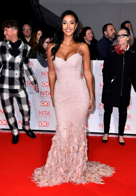 Maya Hama attends the National Television Awards 2018 at the O2 Arena on January 23, 2018 in London, England. (Photo by PA Wire)