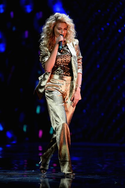 Tori Kelly performs on stage during the MTV EMA's 2015 at the Mediolanum Forum on October 25, 2015 in Milan, Italy. (Photo by Brian Rasic/Getty Images for MTV)