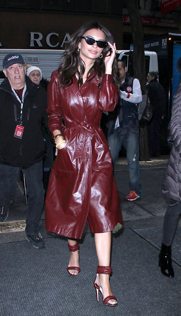 """Emily Ratajkowski at Today Show  to talk about new movie """"I Feel Pretty"""" in New York, NY on April 9, 2018. (Photo by Roger Wong/INSTARimages.com)"""