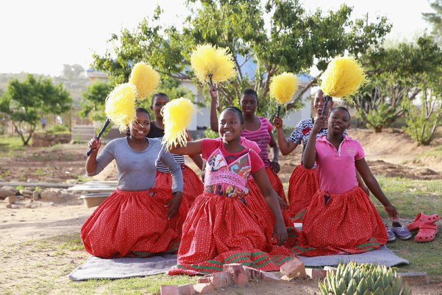 Deaf dancers perform at Phelisanong Children's Home during a Sentebale programme visit on November 25, 2015 in Phelisanong, Lesotho. Ahead of the opening of the Mamohato Children's Centre friends of Sentebale have been visiting programmes supported by the charity. Sentebale was founded by Prince Harry and Prince Seeiso of Lesotho ten years ago. (Photo by Chris Jackson/Getty Images)