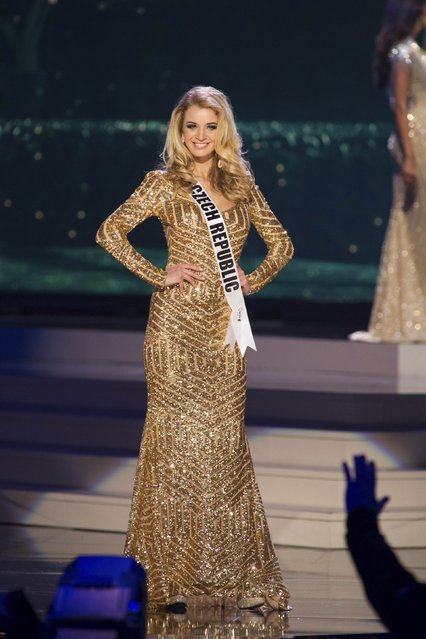 Gabriela Frankova, Miss Czech Republic 2014 competes on stage in her evening gown during the Miss Universe Preliminary Show in Miami, Florida in this January 21, 2015 handout photo. (Photo by Reuters/Miss Universe Organization)