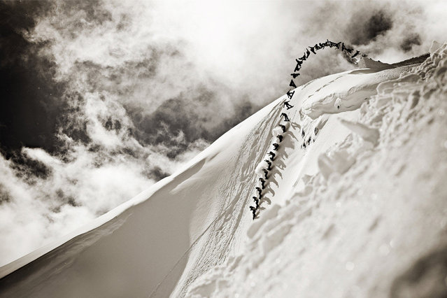 Photographer: Jussi Grznar. Athlete: Mikey Rencz. Location: Whistler, British Columbia. (Photo by Jussi Grznar/Red Bull Illume via The Atlantic)