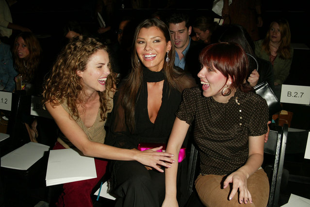 Keri Russell, Ali Landry and Scarlett Johansson at the BCBG Spring 2003 fashion show during Mercedes-Benz Fashion Week in New York City. September 19, 2002. (Photo by Evan Agostini/ImageDirect)
