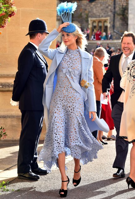 Poppy Delevingne arrives ahead of the wedding of Princess Eugenie of York and Mr. Jack Brooksbank at St. George's Chapel on October 12, 2018 in Windsor, England. (Photo by Matt Crossick - WPA Pool/Getty Images)