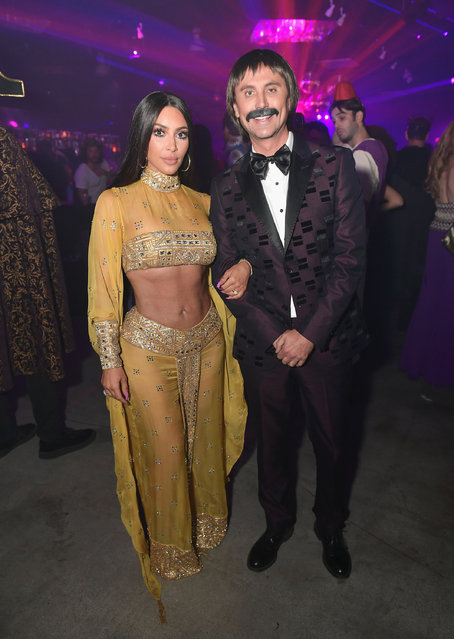 Kim Kardashian (L) and Jonathan Cheban attend Casamigos Halloween Party on October 27, 2017 in Los Angeles, California. (Photo by Neilson Barnard/Getty Images for Casamigos Tequila)