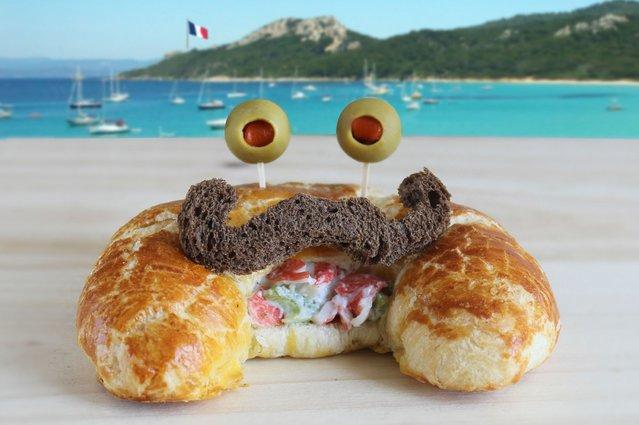 """Kasia Haupt's sandwich monsters: Monsieur Crabssant"". (Photo by Kasia Haupt/Caters News)"