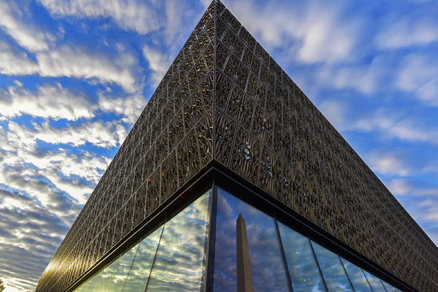 The Smithsonian Institute's National Museum of African American History and Culture, NMAAHC, sits near the Washington Monument on Tuesday, August 9, 2016, in Washington, DC.  The Museum will open to the public September 24 of this year, 2016. (Photo by Jahi Chikwendiu/The Washington Post)