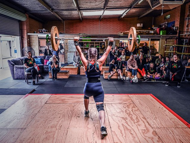 Getting it done. Felicity, an athlete at an amateur weightlifting competition in a small local gym. (Photo by Clinton Bradbury/Women in Sport Photo Action Awards 2021)