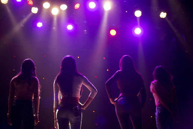 Contestants pose for the judges during auditions for the first Miss Trans Israel beauty pageant in Tel Aviv, Israel, Thursday, March 3, 2016. (Photo by Ariel Schalit/AP Photo)