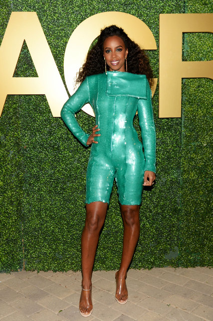 Kelly Rowland attends the MACRO Pre-Oscar Party 2019 at Casita Hollywood on February 21, 2019 in Los Angeles, California. (Photo by Andrew Toth/Getty Images for MACRO)