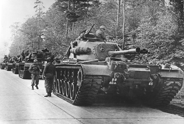 American tanks on alert in the Berlin Grunewald, West Germany, as the crisis over the Cuban blockade looms during the Cuban missile crisis, on 25th October 1962. (Photo by Keystone/Getty Images)