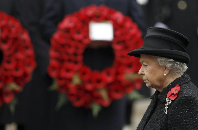 Britain's Queen Elizabeth attends the annual Remembrance Sunday ceremony in central London November in this 14, 2010 file photo. (Photo by Stefan Wermuth/Reuters)