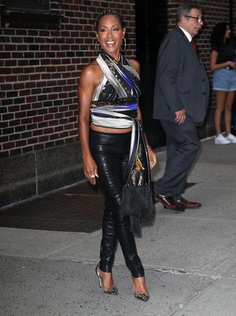 Jada Pinkett Smith out and about in New York City on August 14, 2019. (Photo by ENT/Splash News and Pictures)