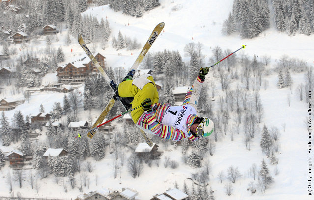 Dimitry Reiherd of Kazakhstan during the FIS Freestyle Ski World Cup Dual Moguls