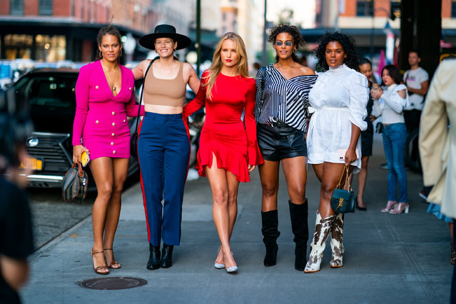 (L-R) Solange Vandoorn, Danielle Redman, Sailor Brinkley-Cook, Marquita Pring and Yvonne Simone attend E!, Elle, & IMG NYFW Kick-Off Party at the Boom Boom Room on September 04, 2019 in New York City. (Photo by Gotham/GC Images)