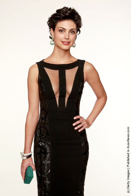 Actress Morena Baccarin poses for a portrait backstage at the 69th Annual Golden Globe Awards