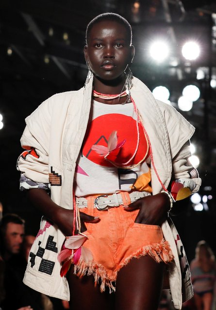 A model presents a creation by designer Isabel Marant as part of her Spring/Summer 2020 women's ready-to-wear collection show during Paris Fashion Week in Paris, France, September 26, 2019. (Photo by Gonzalo Fuentes/Reuters)