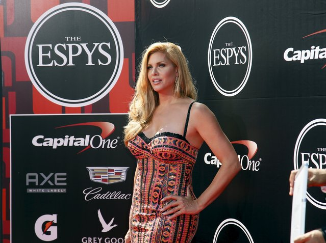 Actress Candis Cayne arrives for the 2015 ESPY Awards in support of Caitlyn Jenner, who is this year's Arthur Ashe Courage Award recipient in Los Angeles, California July 15, 2015. (Photo by Danny Moloshok/Reuters)