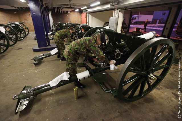 The King's Troop Royal Horse Artillery Prepare To Leave Their St. John's Wood Barracks For Woolwich