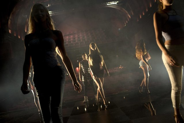 Contestants in the first Miss Trans Israel beauty pageant practice the walk on the stage during rehearsal in Tel Aviv, Israel, Thursday, May 26, 2016. The pageant will be held at HaBima, Israel's national theater, in Tel Aviv on Friday. Tel Aviv has emerged as one of the world's most LGBT-friendly travel destinations, standing in sharp contrast to most of the rest of the Middle East, where gays can face persecution. (Photo by Oded Balilty/AP Photo)