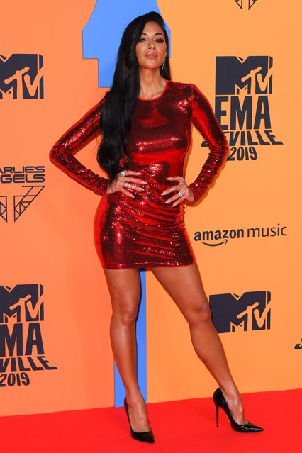 Nicole Scherzinger attending the MTV Europe Music Awards 2019, held at the FIBES Conference & Exhibition Centre of Seville, Spain on November 03, 2019. (Photo by David Fisher/Rex Features/Shutterstock)