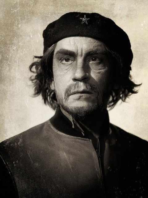 John Malkovich is seen as Che Guevara in a re-creation of the portrait taken by Alberto Korda. (Photo by Sandro Miller/Catherine Edelman Gallery)