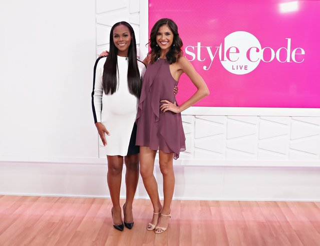 Actress Tika Sumpter poses for a photo with host Lyndsey Rodrigues during an appearance on Amazon's Style Code Live on August 25, 2016 in New York City. (Photo by Cindy Ord/Getty Images for Amazon)