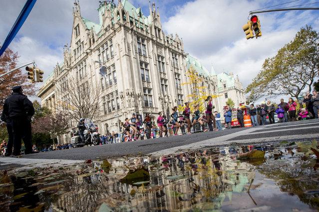 The Women's elite runners pass through Brooklyn, November 2, 2014. (Photo by Brendan McDermid/Reuters)