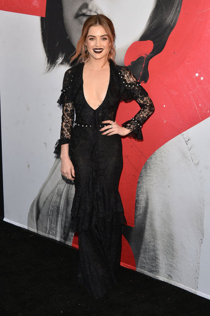 """Lucy Hale arrives to the Los Angeles Premiere of Universal Pictures' """"Blumhouse's Truth Or Dare"""" held at ArcLight Cinemas – Cinerama Dome on April 12, 2018 in Hollywood, California. (Photo by Tony DiMaio/Startraksphoto.com)"""