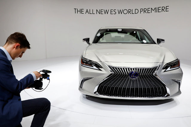 The new Lexus ES is displayed during a media preview at the Auto China 2018 motor show in Beijing, China on April 25, 2018. (Photo by Damir Sagolj/Reuters)