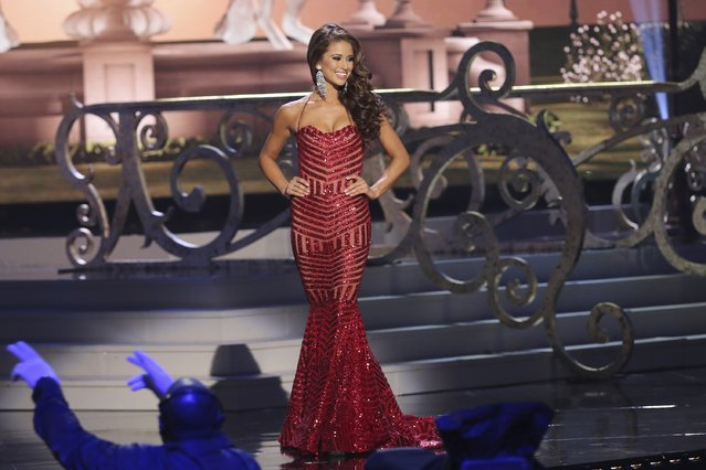 Miss USA Nia Sanchez onstage during The 63rd Annual Miss Universe Pageant at Florida International University on January 25, 2015 in Miami, Florida. (Photo by Alexander Tamargo/Getty Images)