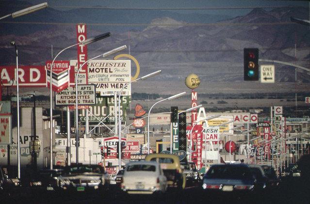 Street scene in east Las Vegas, Nevada, May 1972. (Photo by Charles O'Rear/NARA via The Atlantic)
