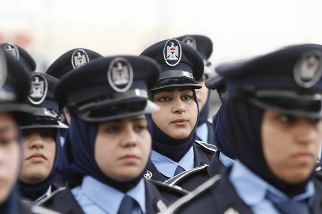 Policewomen take part in a parade during a ceremony marking the Iraqi Police Day at a police academy in Baghdad January 9, 2016. (Photo by Khalid al Mousily/Reuters)