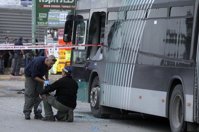 Bomb Explodes At Jerusalem Bus Stop