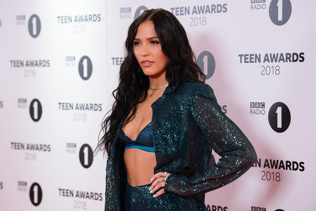 Lennon Stella arrives the BBC Radio 1 Teen Awards at SSE Arena on October 21, 2018 in London, England. (Photo by Joe Maher/Getty Images)