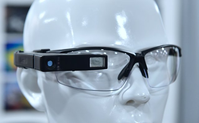 The ARSENZ ThermoGlass, which enables the user to obtain thermal imaging at a glance and quickly troubleshoot and analyze hidden issues, is displayed at the 2017 Consumer Electronic Show (CES) in Las Vegas, Nevada, January 6, 2017. (Photo by Frederic J. Brown/AFP Photo)